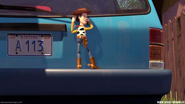 The plate on Andy's mom's car in Toy Story.