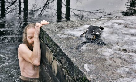 This Amazing Guy Jumped Into An Icy Frozen Lake To Rescue A Drowning Duck