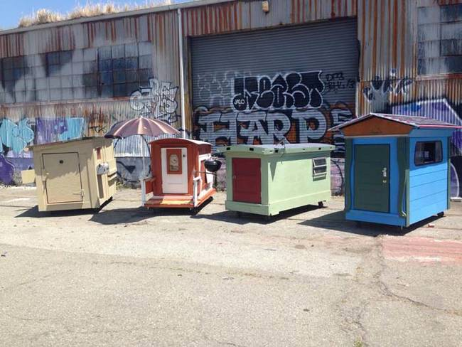 A Selfless Artist Is Building Houses For The Homeless Using Recycled Materials