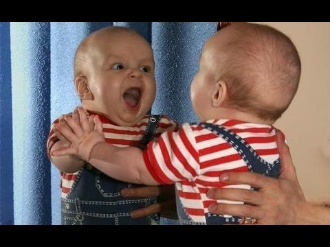 Funny Baby Sees Mirror For The First Time Compilation 2015 [NEW HD EDITION]