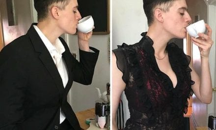 This Androgynous Model Poses For Both Menswear And Womenswear