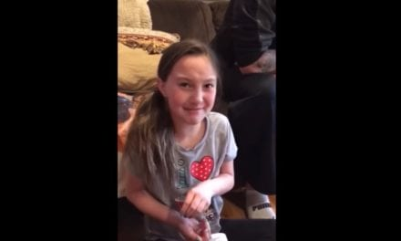 Girl Finds Out That She's Going To Be A Big Sister And Her Reaction Is Tear-Jerking