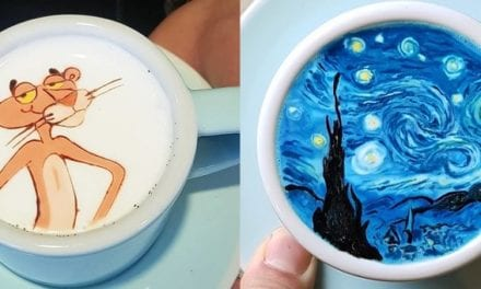 Talented Barista From Korea Creates Colorful 'Creamart' For His Customers And They Love It