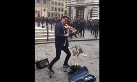 Street Performer Nails The Violin Version Of Ed Sheeran's 'Shape Of You'