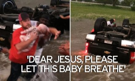 Strangers Come Together To Rescue Young Children From A Truck That Flipped During Flooding In Texas