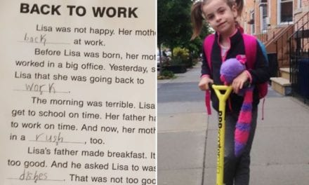 Mom Creatively Tackles Daughter's Sexist Homework Assignment Issue