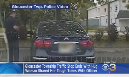 Gloucester Township Cop Gets A Thank You Hug From Woman For His Act Of Kindness