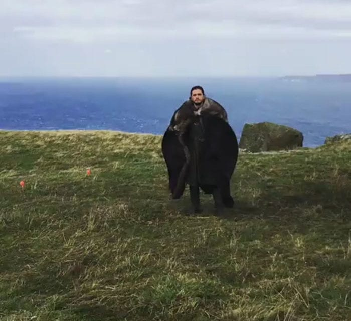Emilia Clarke Shares Hilarious Video Of Kit Harington Acting Goofy On GOT Set