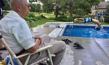 94-Year-Old Lonely Man Builds A Swimming Pool In His Backyard For Neighborhood