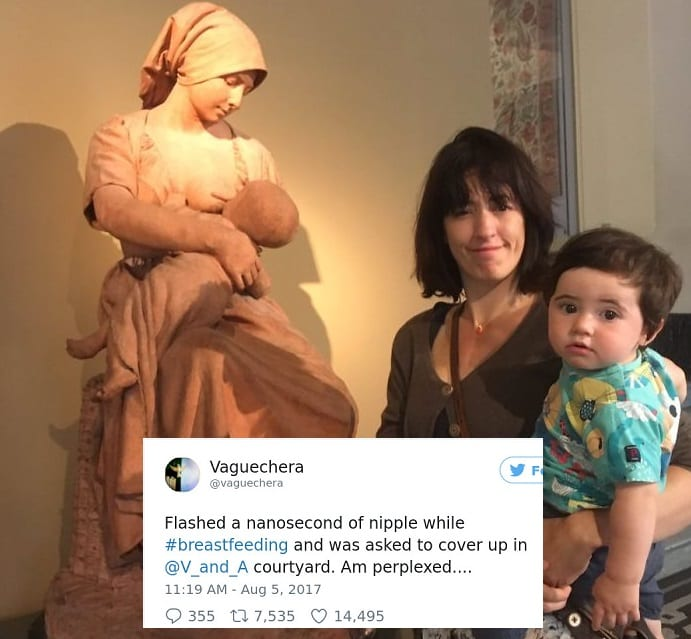 Mother Who Was Asked To 'Cover Up' While Breastfeeding At A Museum Had The Perfect Response