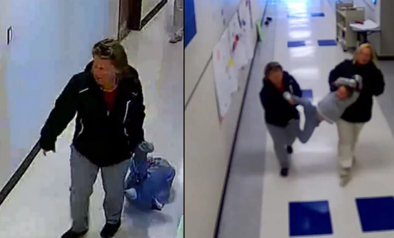 Surveillance Tape Shows Two Teachers Dragging 7-Year-Old Boy With Autism Through The Halls