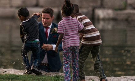 Kind Groom Jumps Into A River To Save A Drowning Boy, Hailed A 'Superman' By Internet