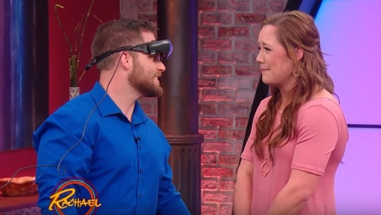 Woman Breaks Down When Visually Impaired Boyfriend Sees Her For The First Time Using High Tech Glasses