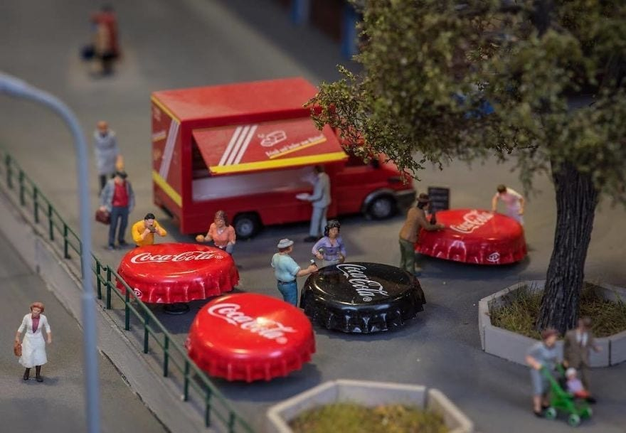 An Artist Collected Everyday Items And Created A Mini World Out Of It