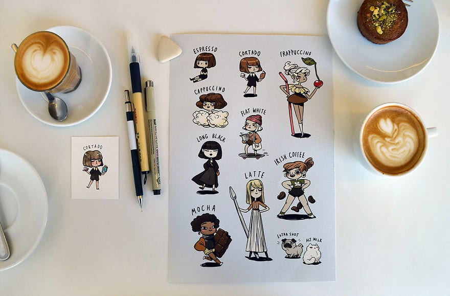 An Artist Got Inspired By Coffee And Created Amazing Illustrations To Describe Coffee