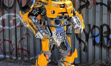 Artist Made Handmade Robot Costume Inspired By Transformers