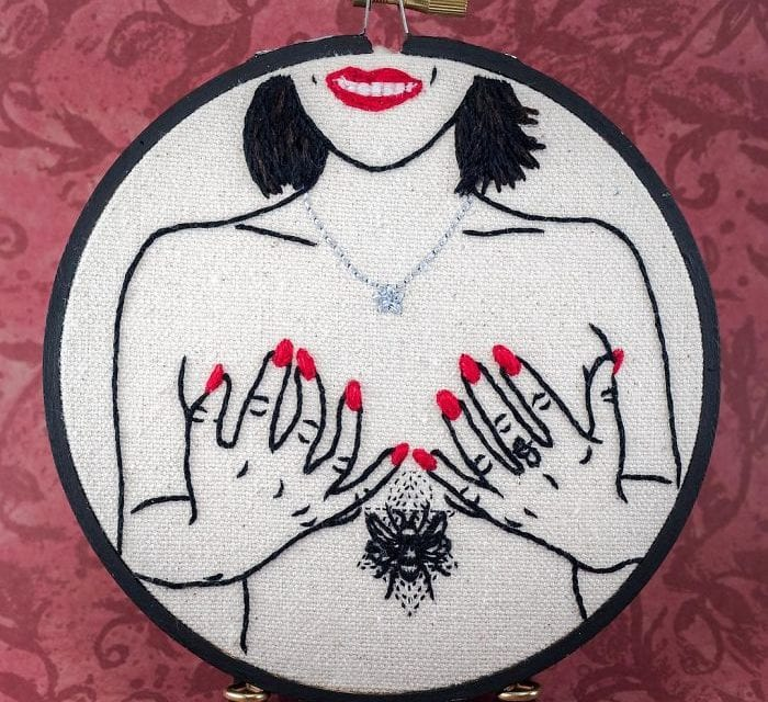 An Artist Spreads Body Positivity By Embroidering Body Parts Of Different Sizes By Her Art